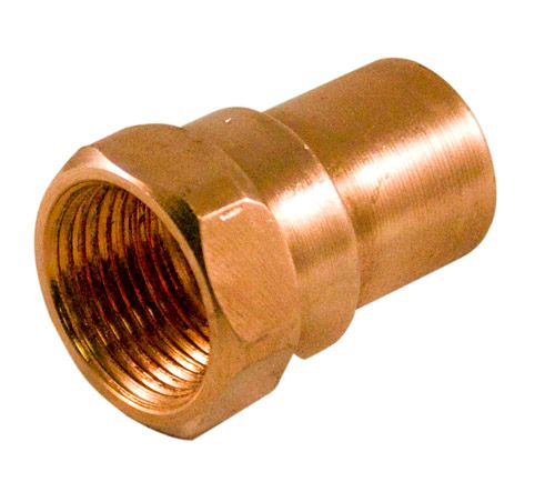 Fitting Copper Female Adapter 1/2 Inch x 3/8 Inch Copper To Female