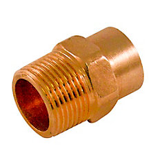 Fitting Copper Male Adapter 1/2 Inch x 3/4 Inch Copper To Male