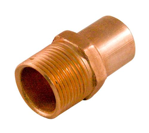Aqua-Dynamic Fitting Copper Male Adapter 1/2 Inch Fitting To Male