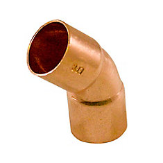 Fitting Copper 45 Degree Elbow 1/2 Inch Copper To Copper