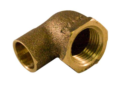 Fitting Cast Brass 90 Degree Elbow 1/2 x 3/4 Inch Copper To Female