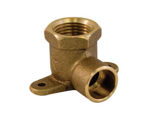 Aqua-Dynamic Fitting Brass Drop Ear Elbow 1/2 Inch Female Threaded x 1/2 Inch Solder