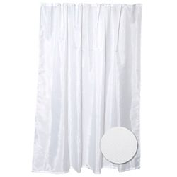 Zenith Products Fabric Shower Liner - White