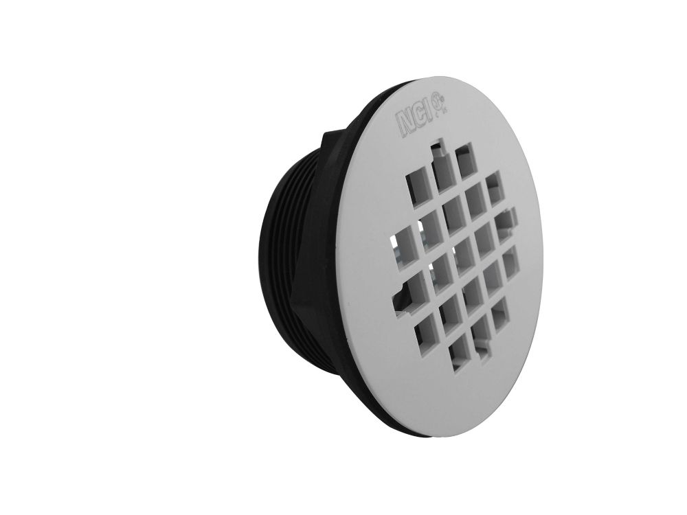 ABS Shower Drain White Grid SlipFit