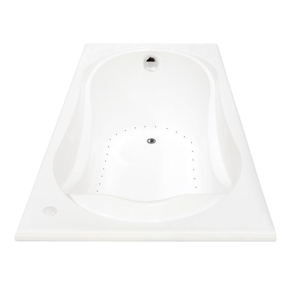 MAAX Cocoon Acrylic Aerosens Bathtub in White | The Home Depot Canada