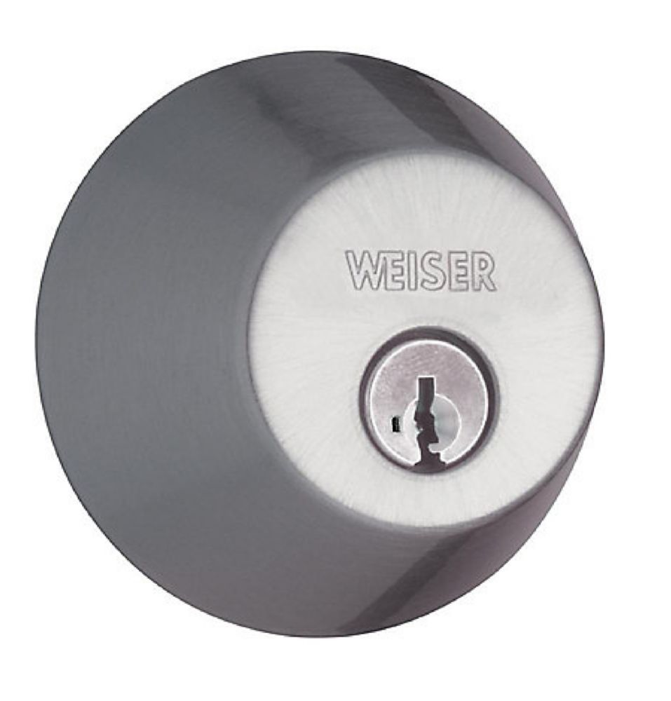 Weiser Satin Chrome Single Cylinder Deadbolt with SmartKey Technology