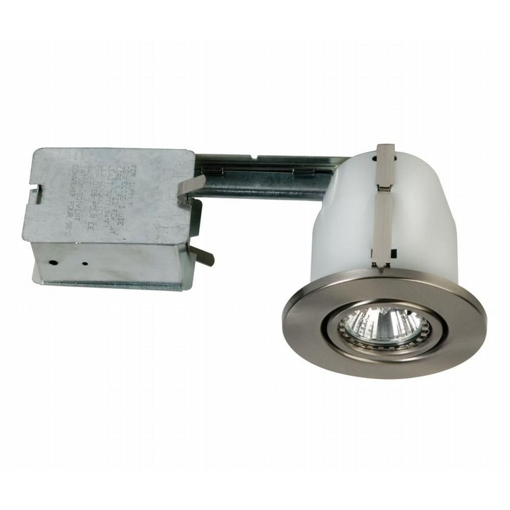 Gimbal Trim, With Housing, Satin Nickel