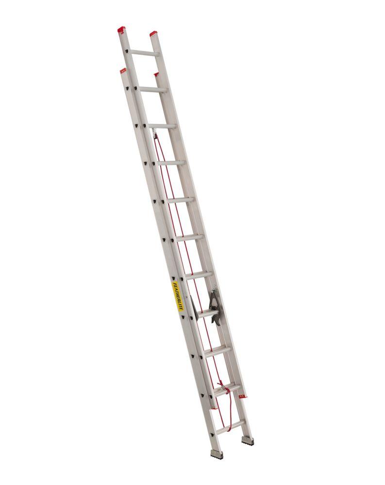 Échelle à coulisse, aluminium de classe3, 20pi
