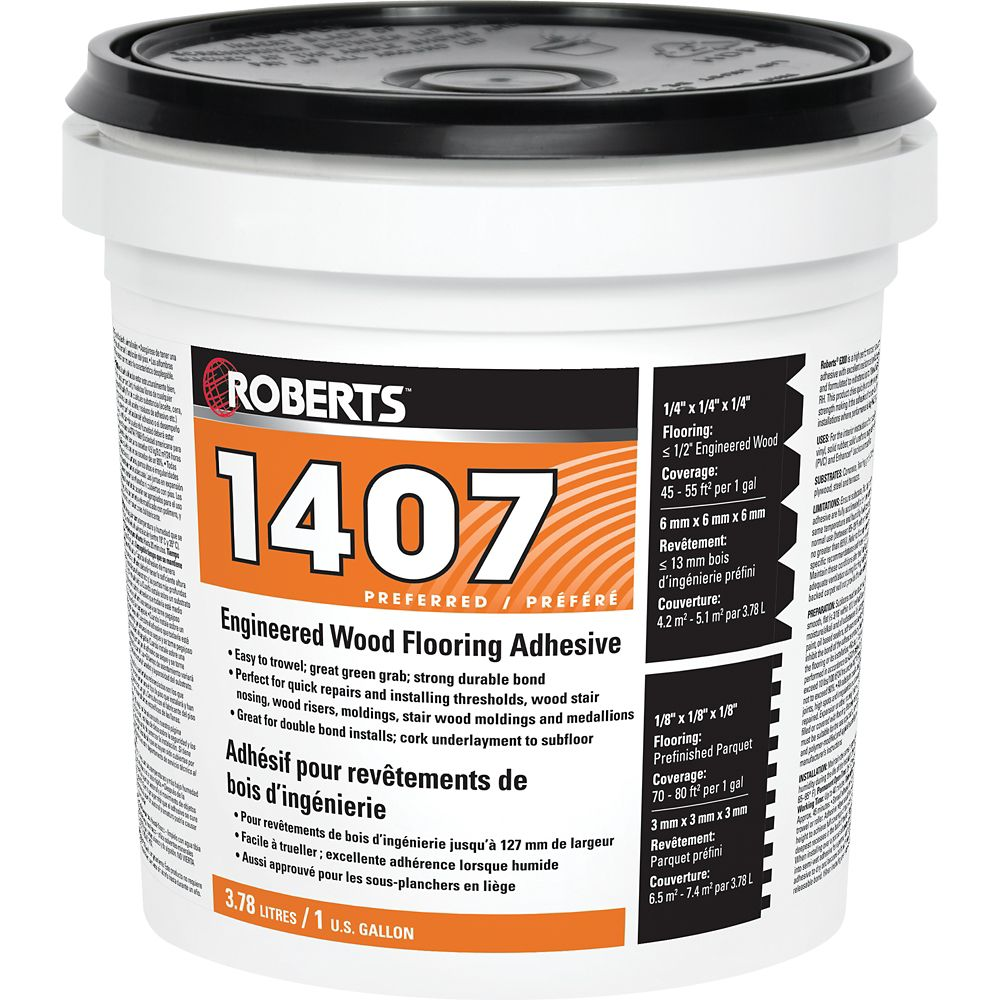 Roberts 1407, 3.78L Acrylic Urethane Adhesive For