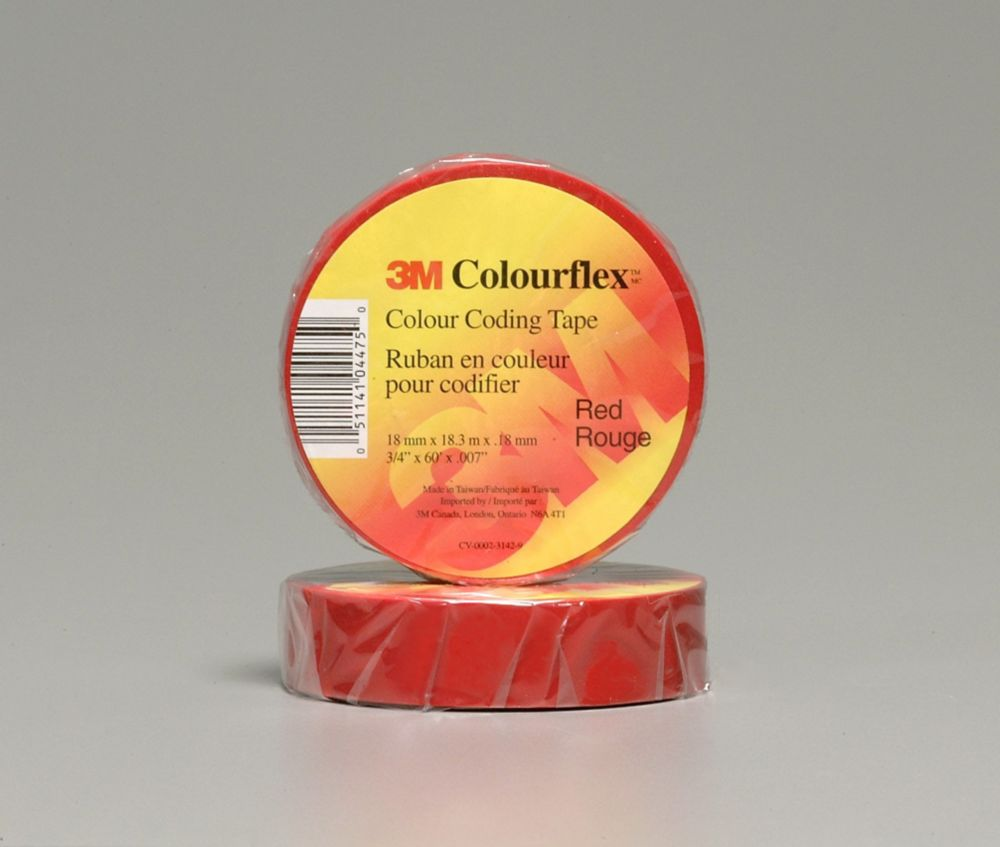 3M Colourflex Red Coding Electrical Tape