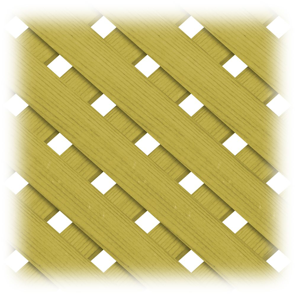 Treated Wood 4x8 Privacy Plus Lattice