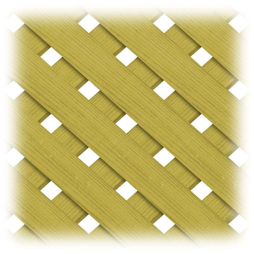 Treated Wood 1x8 Privacy Plus Lattice