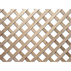 4 Feet x 8 Feet Western Red Cedar Lattice