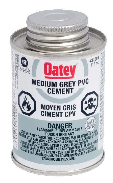 118 Ml Pvc Cement Medium Gray (C)