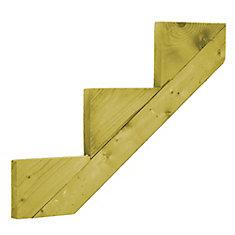 Treated Wood 3-Step Stringer