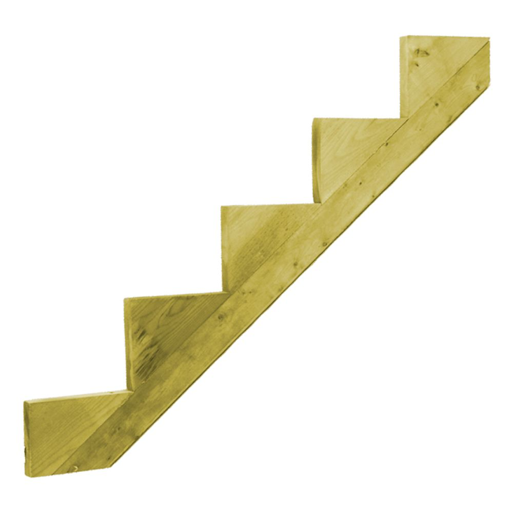 Treated Wood 5-Step Stringer