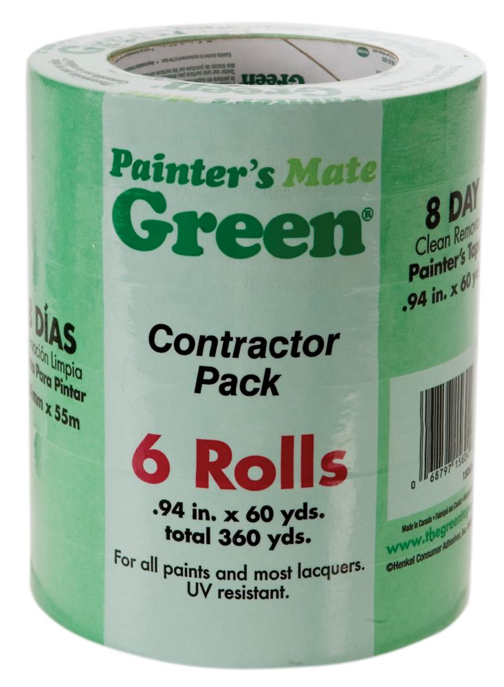 Painter's Mate Green Painter's Tape Contractor Pack - 6 pack 0.94 In.