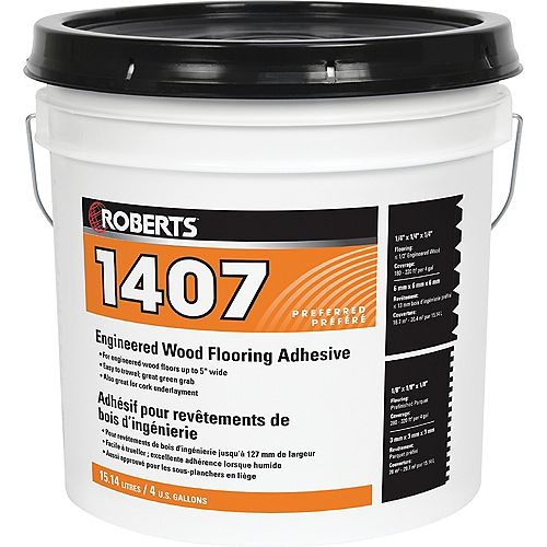 Roberts 1407, 15L Acrylic Urethane Adhesive for Engineered Wood Floors
