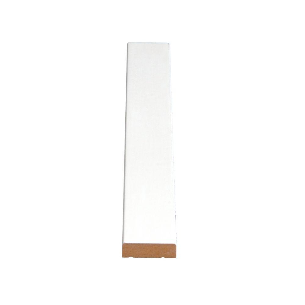 Heurtoir de porte apprêté, en MDF - 3/8 x 1 1/4 (Prix par pied)