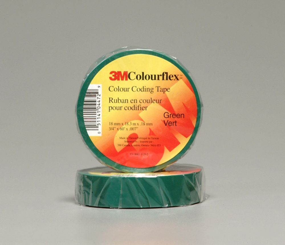 3M Colourflex Green Coding Electrical Tape