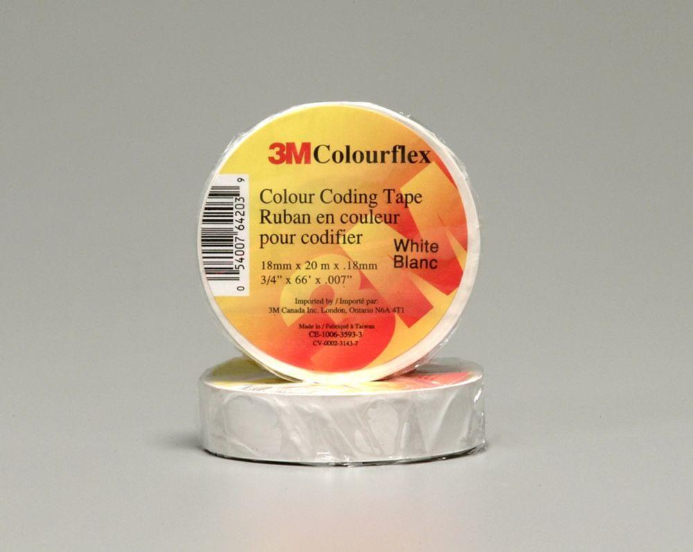 3M Colourflex White Coding Electrical Tape