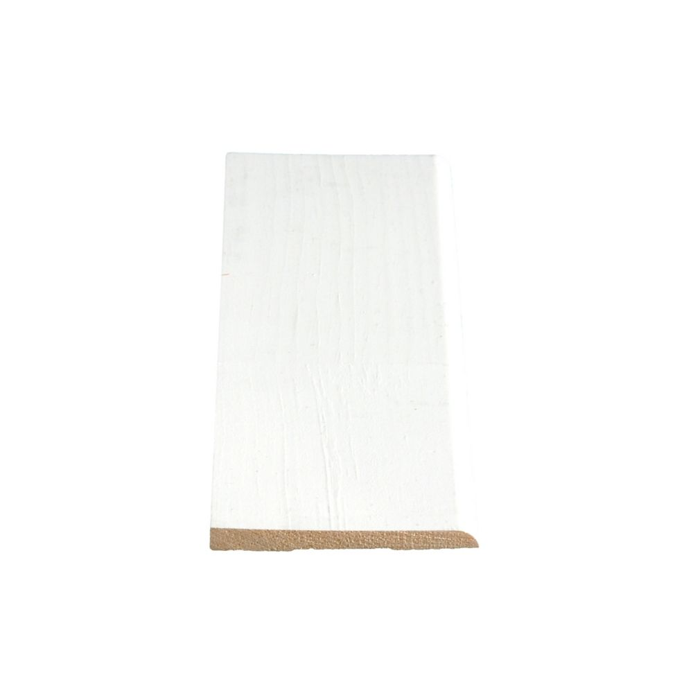 Primed Finger Jointed Pine Bevel Base 5/16 Inches x 3-1/8 Inches x 8 Feet