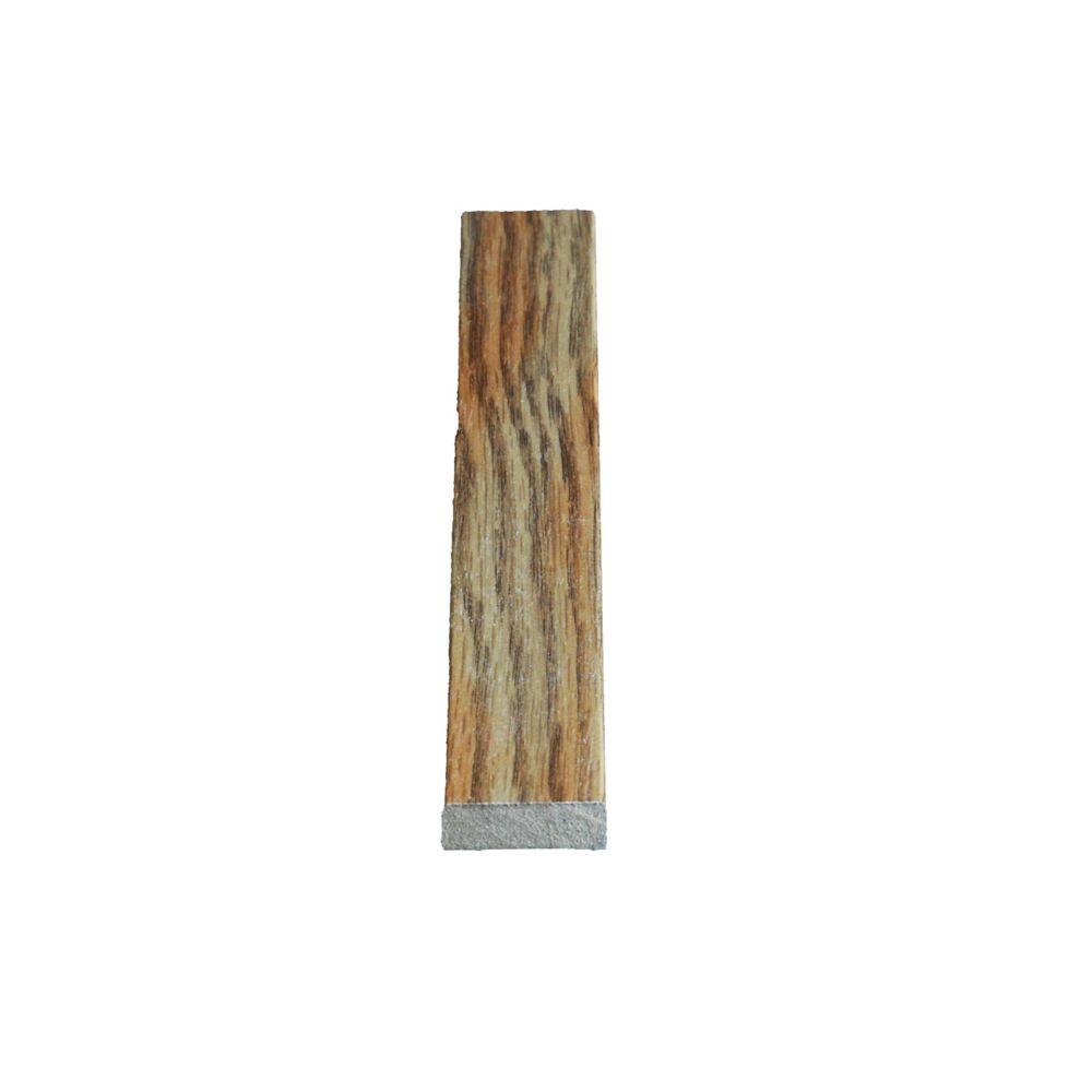 Heurtoir de porte en chêne vinyle Marquis - 3/8 x 1 1/4 (Prix par pied)