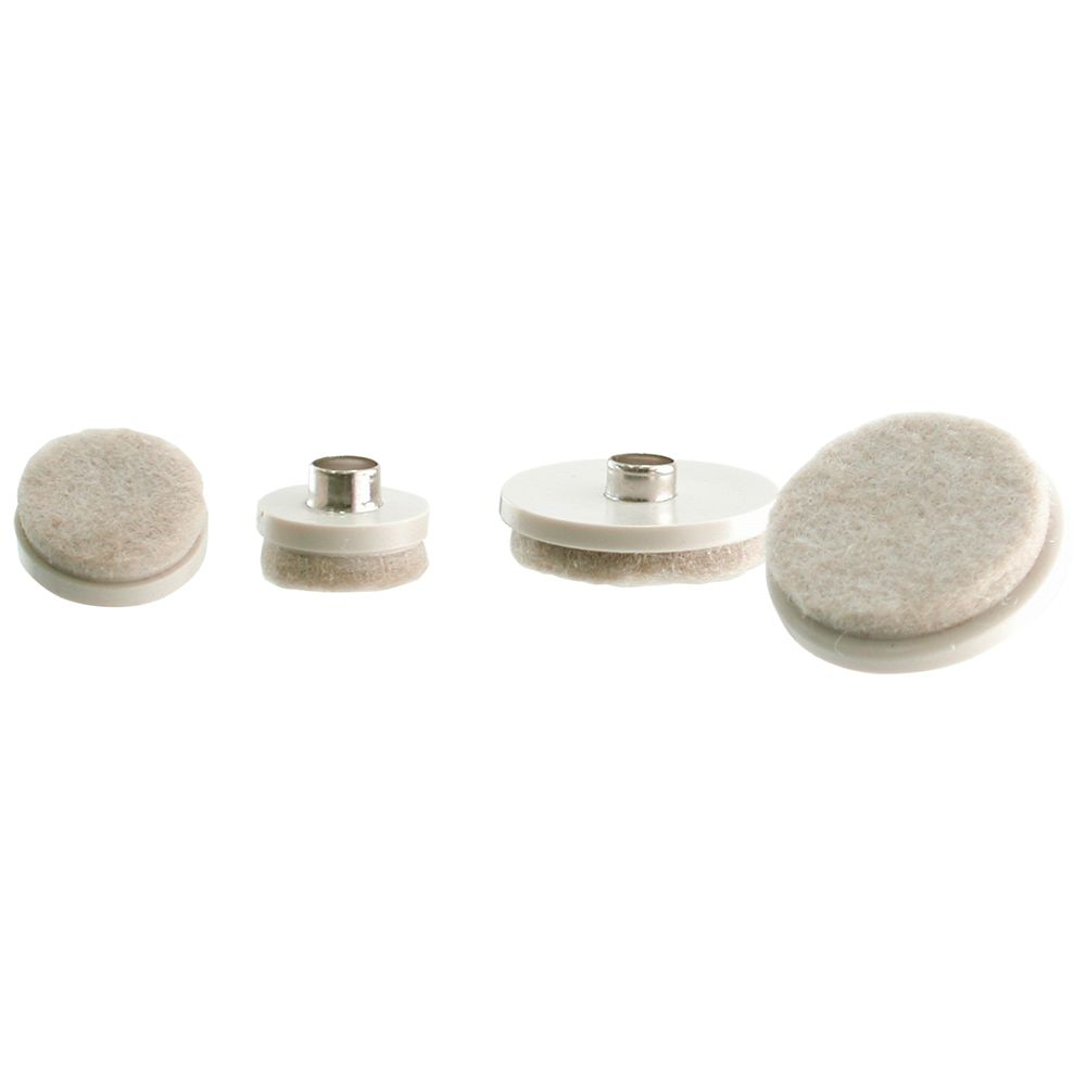 Everbilt 1 inch and 1-1/2 inch Nail-On Glides with Felt Pads (20 per Pack)