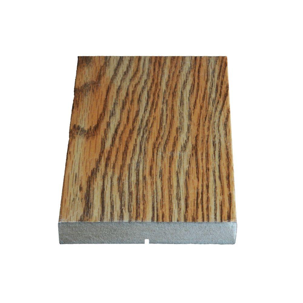 Montant plat, en chêne vinyl Marquis - 5/8 x 4 9/16 (Prix par pied)