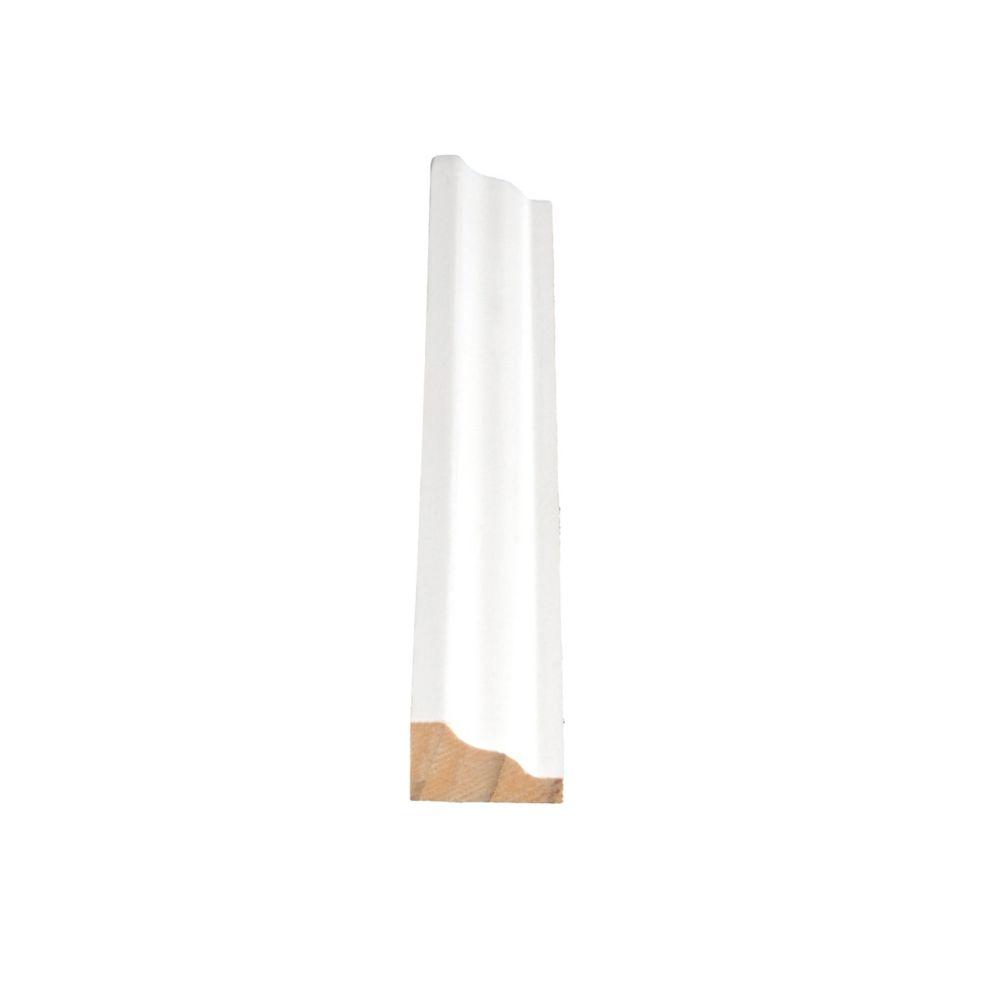 Moulure de panneau, apprêté et jointé, en pin - 3/4 x 1 1/4 (Prix par pied)