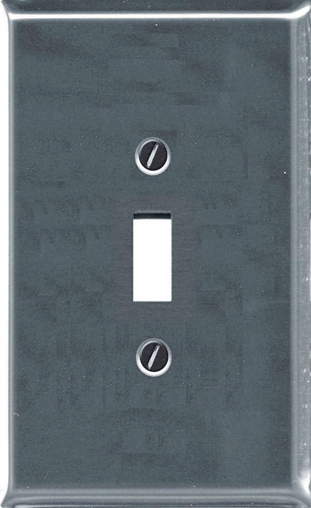 Plaque Murale Décorative Interrupteur Traditionnel Chrome
