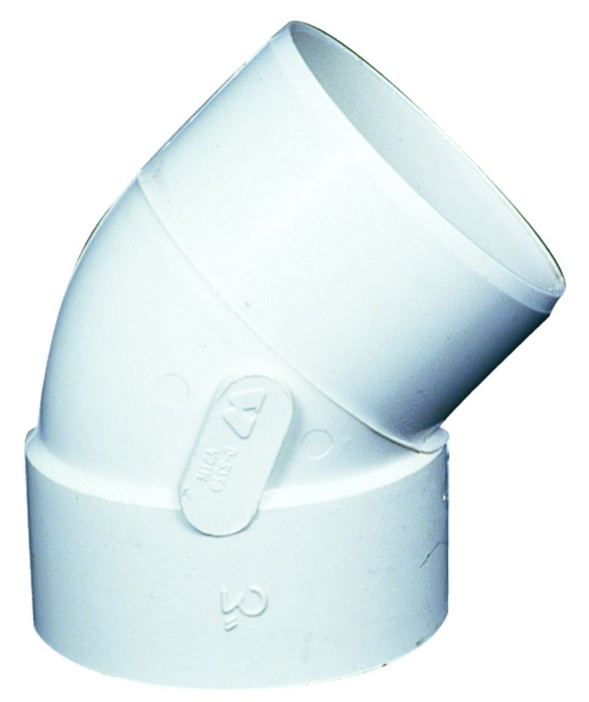 Ipex Homerite Products Pvc Fgv 45d Elbow 3 Inches H