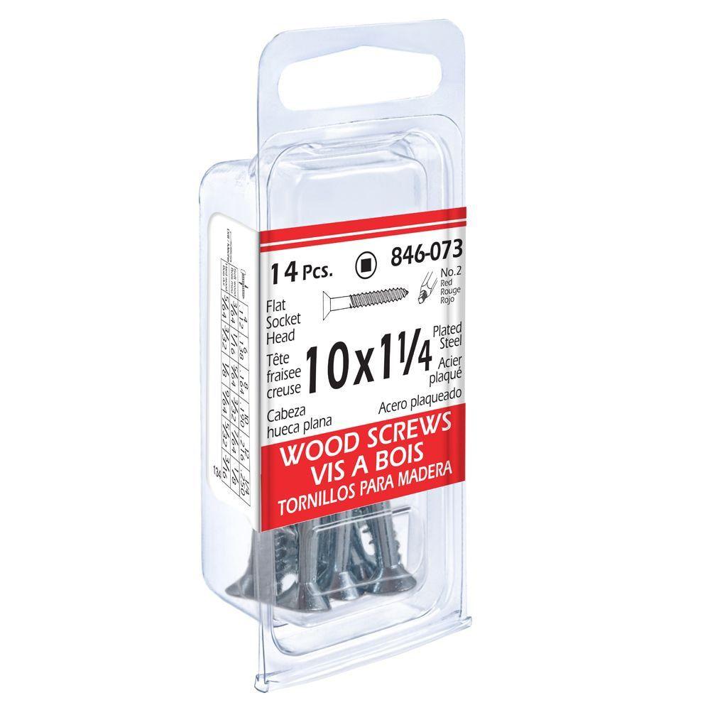 10x1-1/4 Flat Soc Wood 14Pc Screw