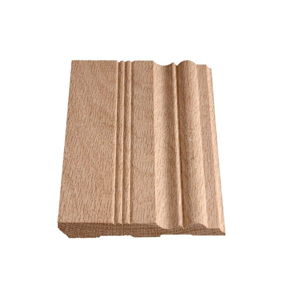 Plinthe victorienne en chêne 1/2 x 4 1/2