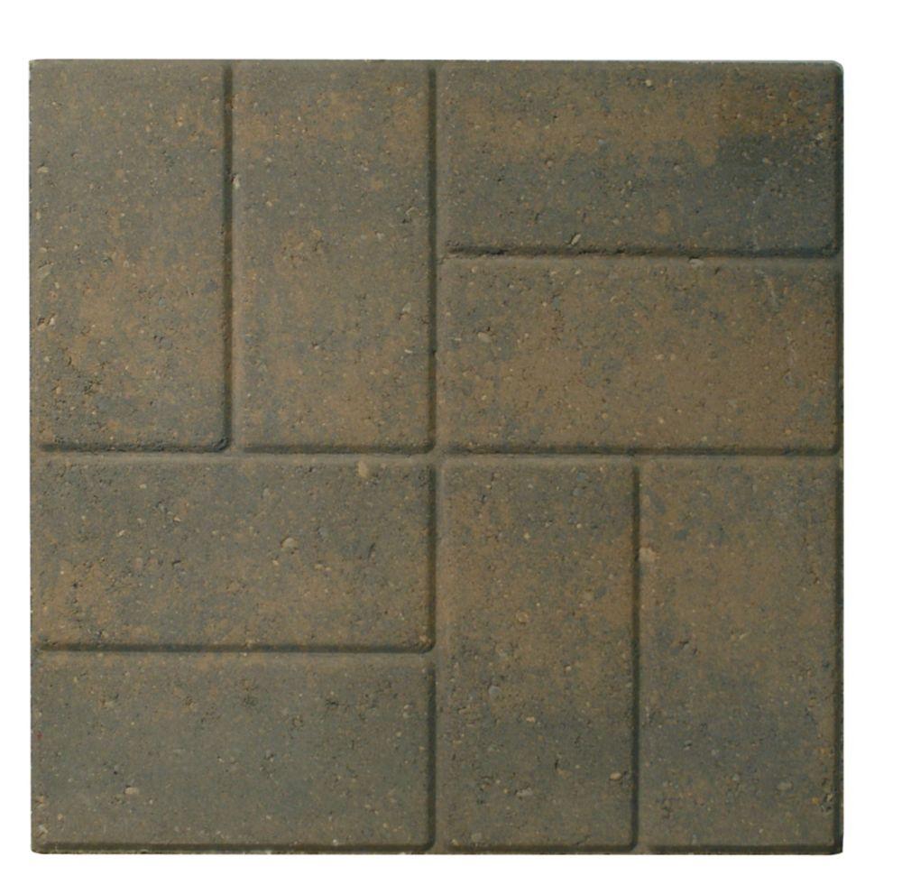 Patio Slab - 18x18 - Brickface Tan/Charcoal