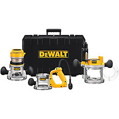DeWALT 2-1/4 HP Three Base Router Kit