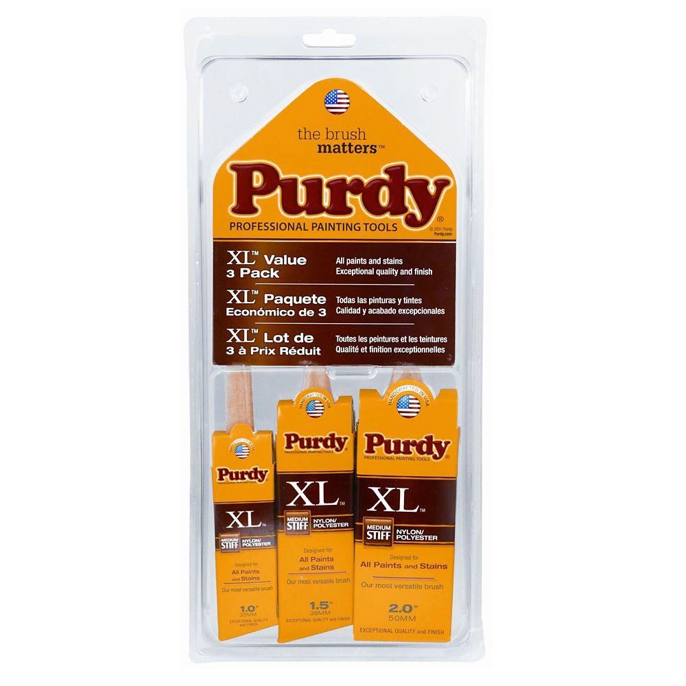 Purdy XL Brush Set 3-Pack