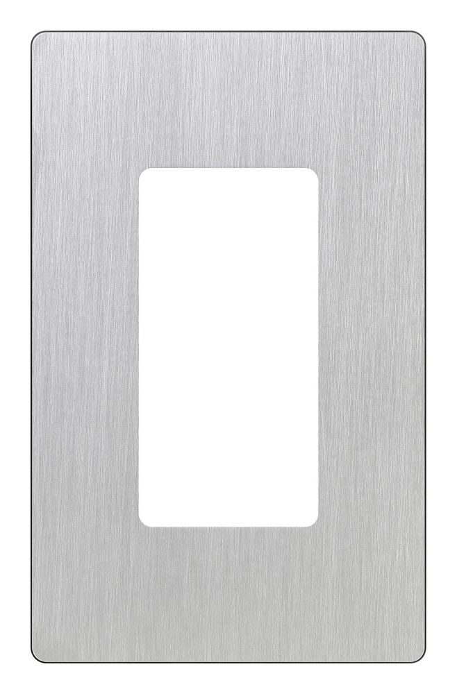 Claro 1-Gang Wallplate, Stainless Steel