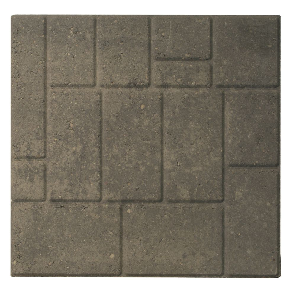 Patio Slab - 18x18 - Cobbleface Grey/Charcoal