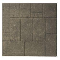 Cindercrete Slab- 18 inch X18 inch  Cobbleface- Grey/Charcoal