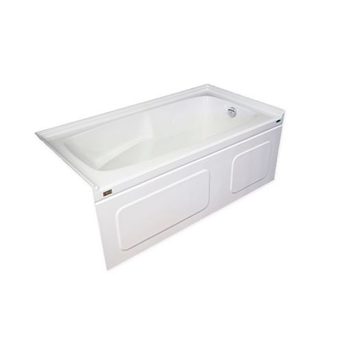 Acritec Elegance Plus 5 Feet Skirted Bathtub with Double Tiling Flange and Right-Hand Drain
