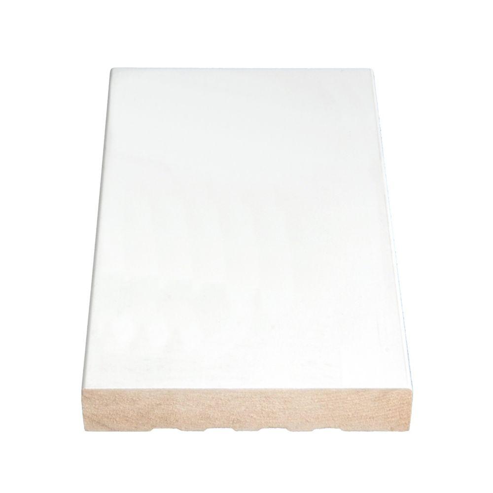 Primed Fibreboard Flat Base 11/16 In. x 4-9/16 In. (Price per linear foot)