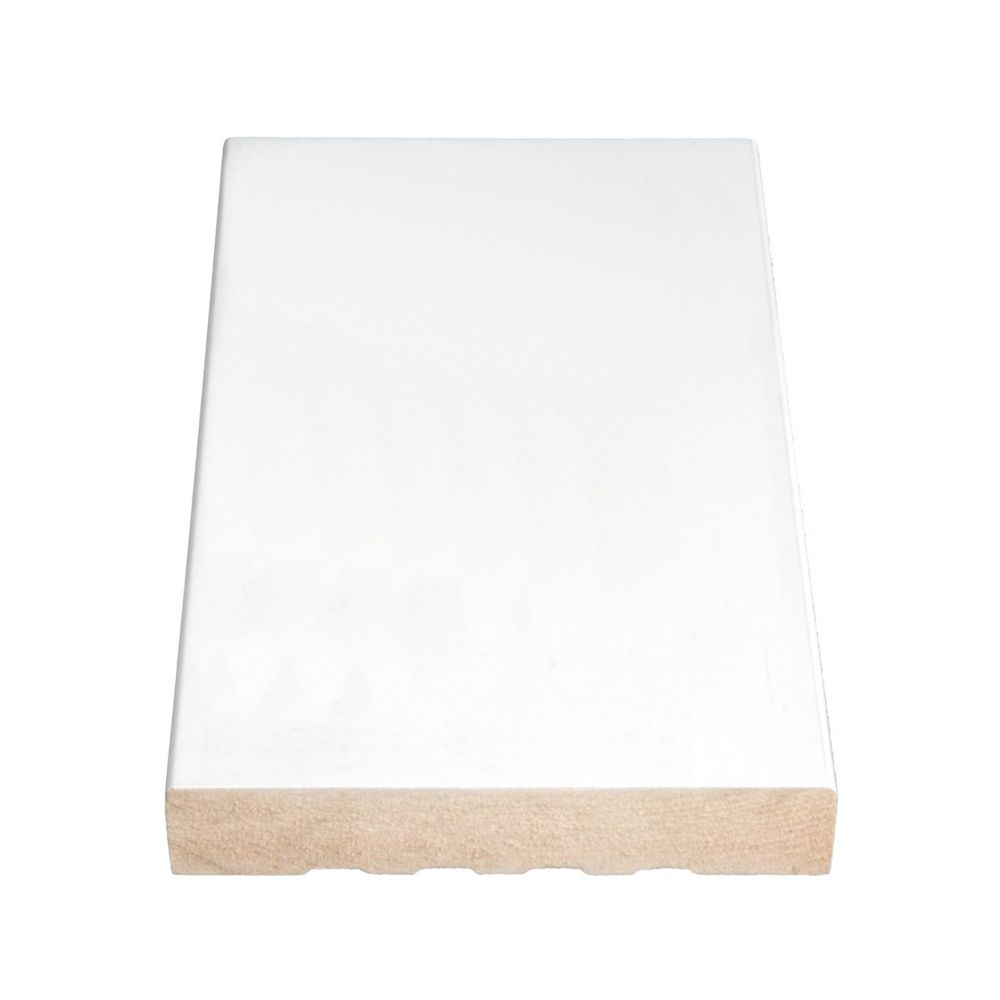 Primed Fibreboard Flat Base 11/16 In. x 4-9/16 In. (Price per linear foot)