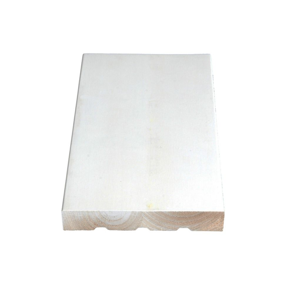 Primed Finger Jointed Pine Flat Jamb 11/16 In. x 4-9/16 In. (Price per linear foot)