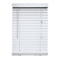 2-inch Faux Wood Blind White 66-inch x 48-inch