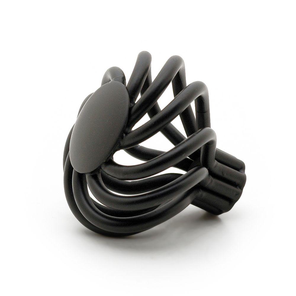 Transitional Metal Knob - Matte Black - 38 mm Dia.