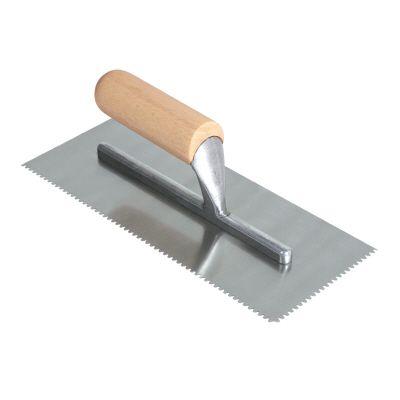 1/8 In. x 1/8 In. x 1/16 In. Flat Top V Carpet Adhesive Trowel