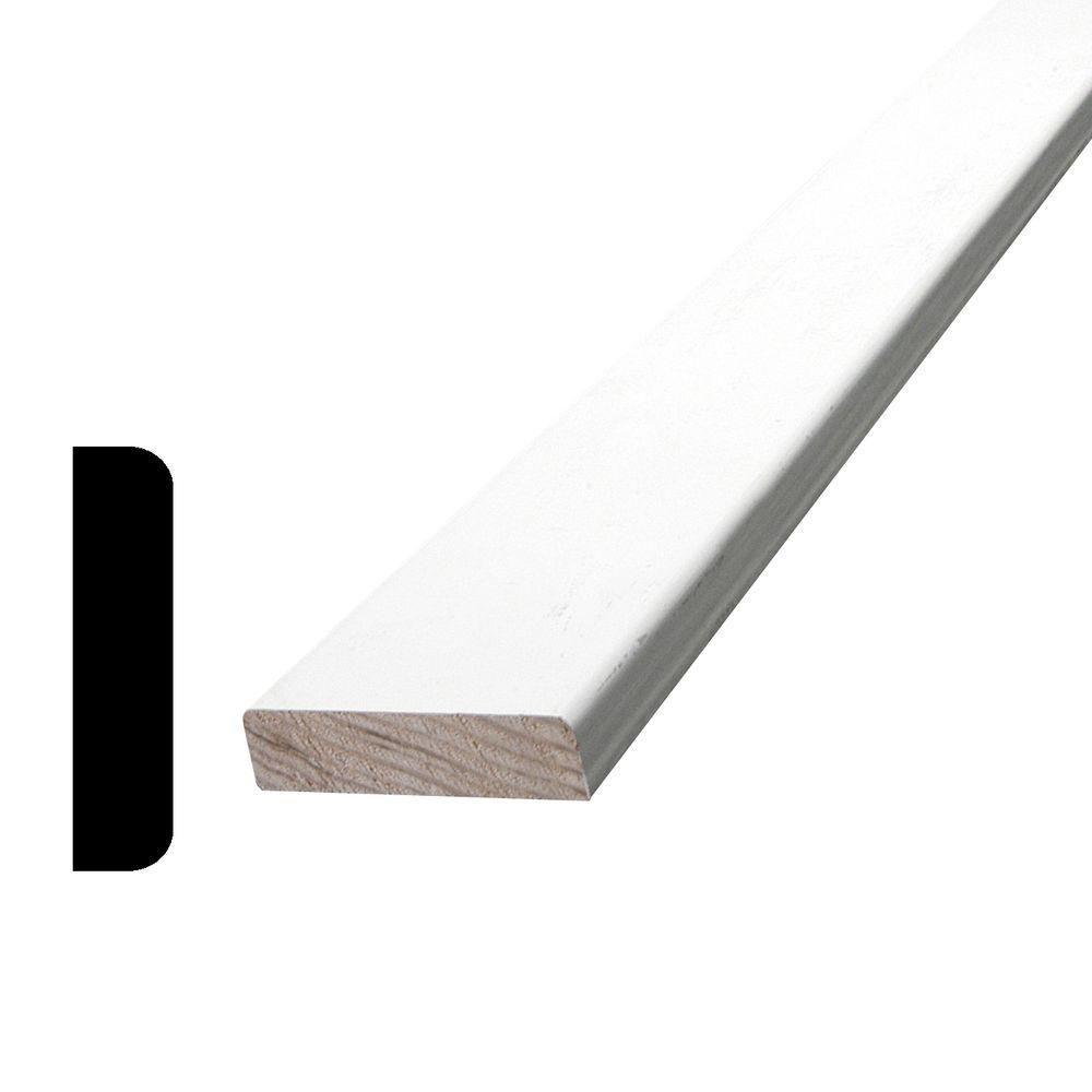 Alexandria Moulding Primed Finger Jointed Pine Burlap 3/8 In. x 1-1/2 In. (Price per linear foot)