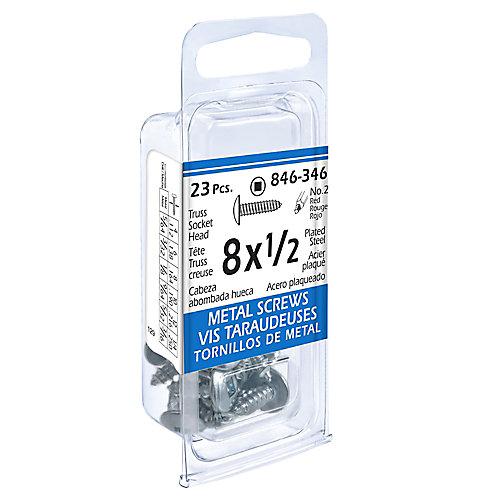 8x1/2 Truss Soc 23Pc Metal Screw