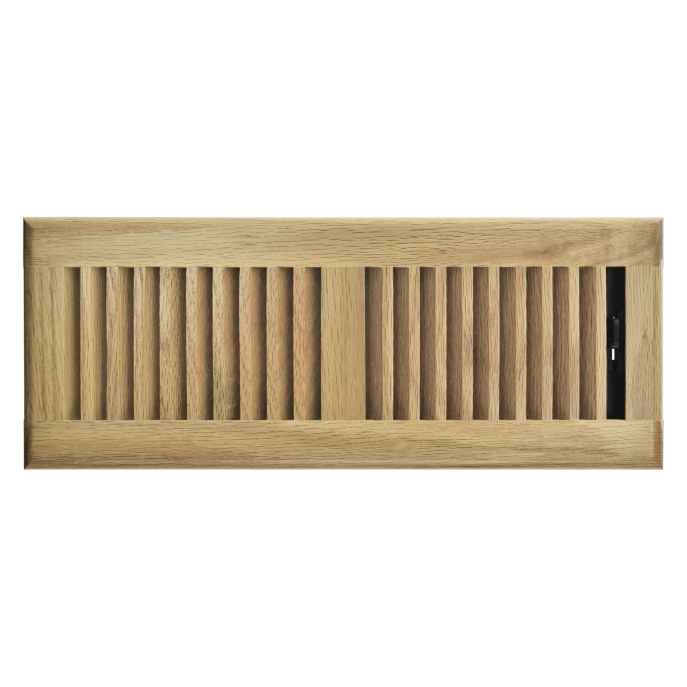 4 Inch x 10 inch Light Oak Louvered Floor Register RG3227 Canada Discount